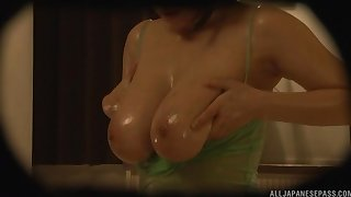 Late night fucking on slay rub elbows with massage table with a natural tits hottie