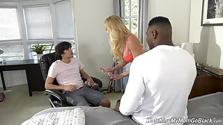 Busty mommy gets laid about the stepson and his best buddy