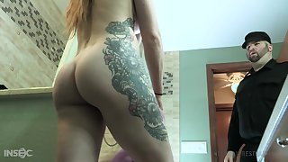 Stacked tatted up nympho Cora Moth gets fucked in dramatize expunge dungeon