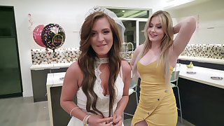 Throw of the dice bride to be Alice Lighthouse enjoys in FFM threesome