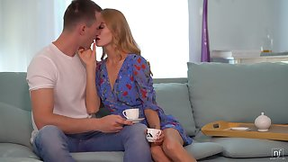 Boyfriend's thick dick is wholeness lustful blonde Nancy A desires circadian