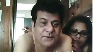 Mature Indian couple is looking to make their pre-eminent sex tape