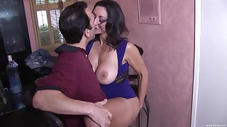 Magical porn moments with weary friend's hot mom
