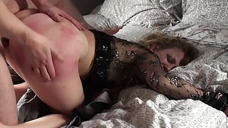 Mature loads her ass and pussy with young nephew's dick