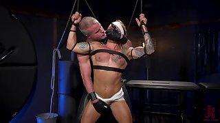Muscular men in dishonest BDSM anal joyful porn
